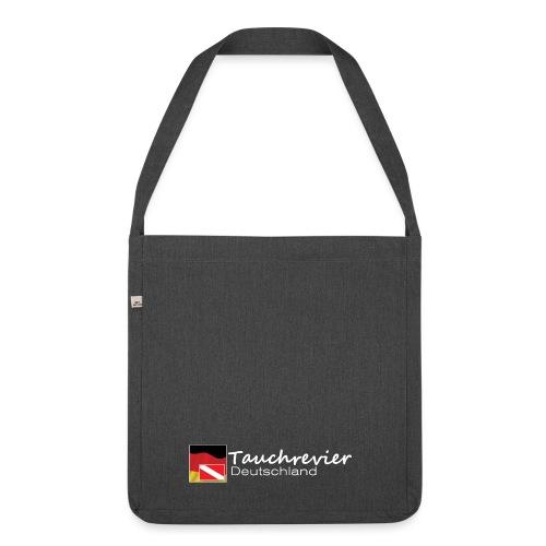 Tauchrevier Deutschland Logo classic weiß - Schultertasche aus Recycling-Material