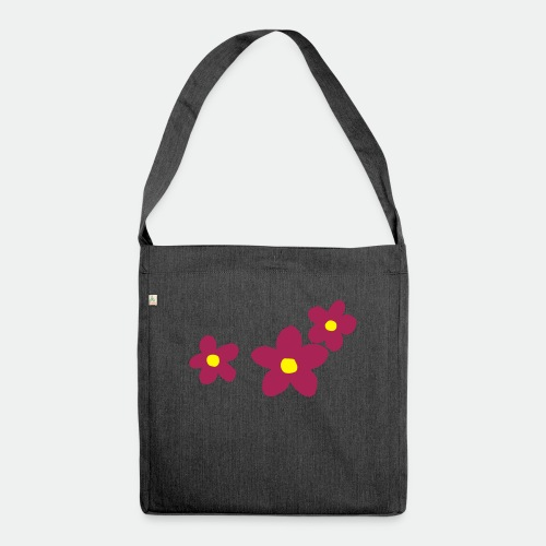 Three Flowers - Shoulder Bag made from recycled material