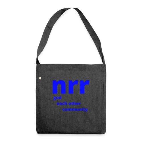 NEARER logo - Shoulder Bag made from recycled material