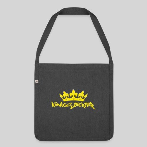 Königstochter m. Krone über der stylischen Schrift - Schultertasche aus Recycling-Material