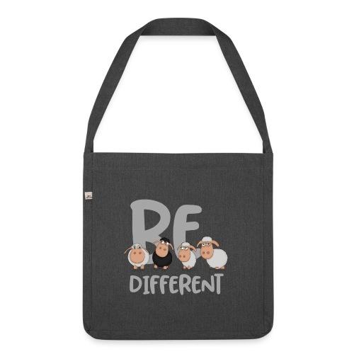 Be different Schafe: Einzigartiges schwarzes Schaf - Schultertasche aus Recycling-Material