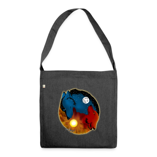 Day and Night / Sun and Moon - Schultertasche aus Recycling-Material