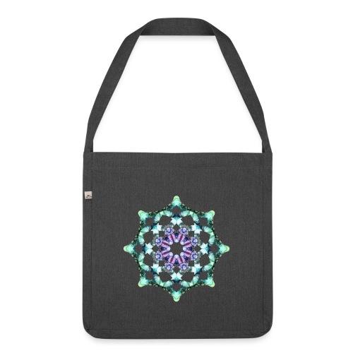 Yoga Mandala Symbol grün - Schultertasche aus Recycling-Material