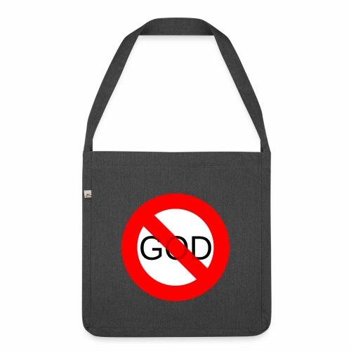 Znak zakazu - No God - Torba na ramię z materiału recyklingowego