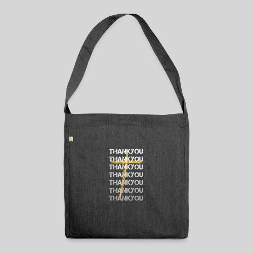 DANKE Jesus, das Geschenk für Christen THANKYOU - Schultertasche aus Recycling-Material