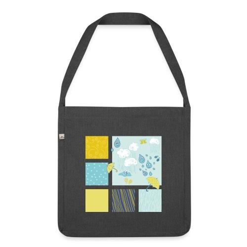Sommerregen Liebe - Schultertasche aus Recycling-Material
