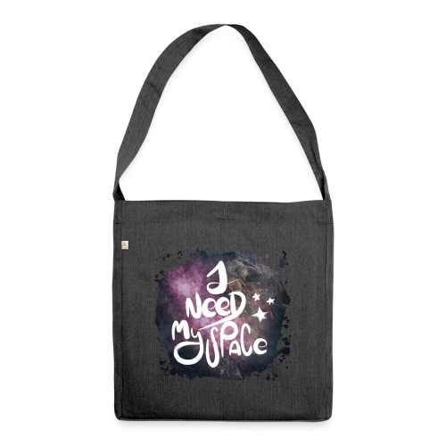Introvert 1 i need my space - Schultertasche aus Recycling-Material