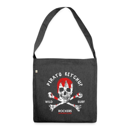 Pirato Ketchup Skull - Shoulder Bag made from recycled material