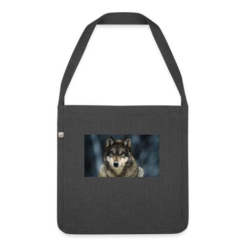 wolf shirt kids - Schoudertas van gerecycled materiaal