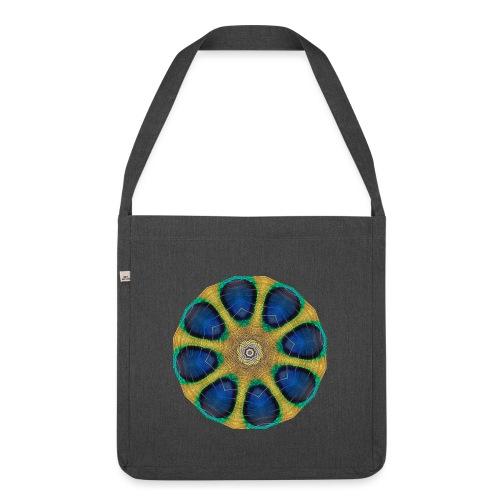 Pfau Kaleidoskop - Schultertasche aus Recycling-Material