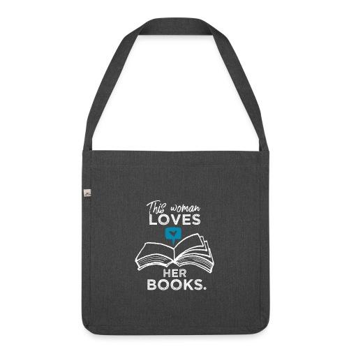 0219 Diese Frau liebt ihre Bücher | bookrebels - Shoulder Bag made from recycled material