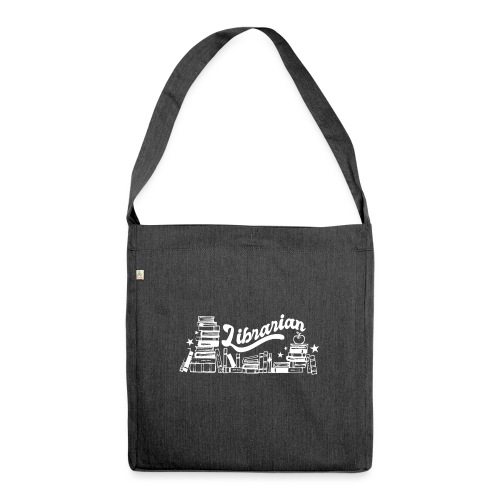 0323 Funny design Librarian Librarian - Shoulder Bag made from recycled material
