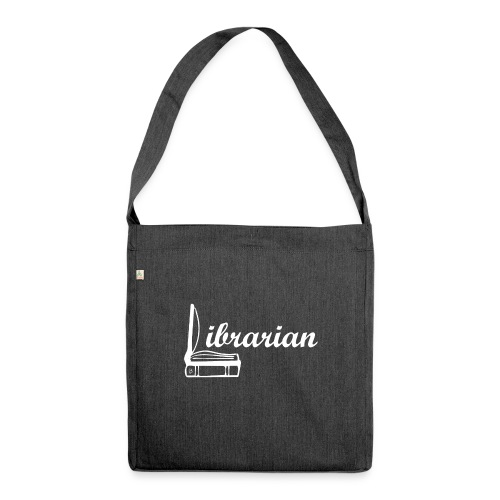 0325 Librarian Librarian Cool design - Shoulder Bag made from recycled material