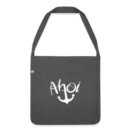 Ahoi Anker Geschenk - Schultertasche aus Recycling-Material