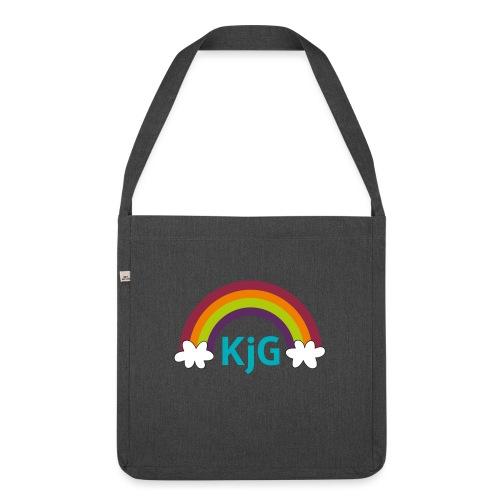Regenbogen - Schultertasche aus Recycling-Material
