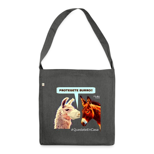 PROTEGETE BURRO - Schultertasche aus Recycling-Material