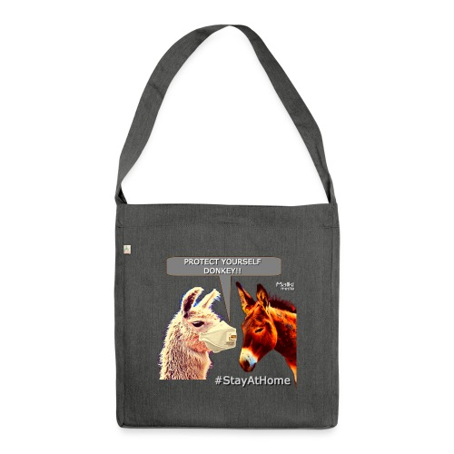 Protect Yourself Donkey - Coronavirus - Schultertasche aus Recycling-Material