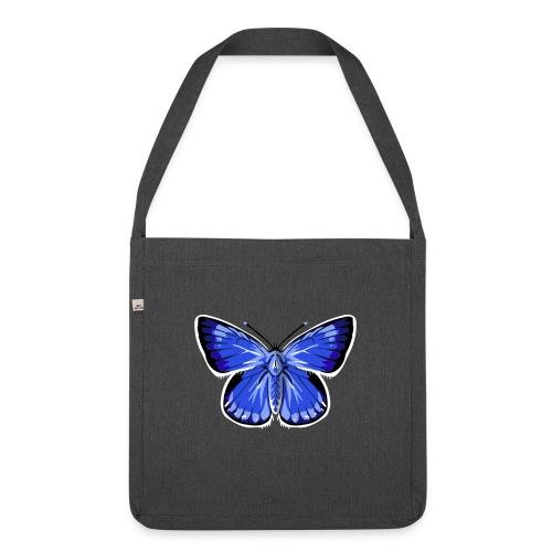 vlinder2_d - Schoudertas van gerecycled materiaal