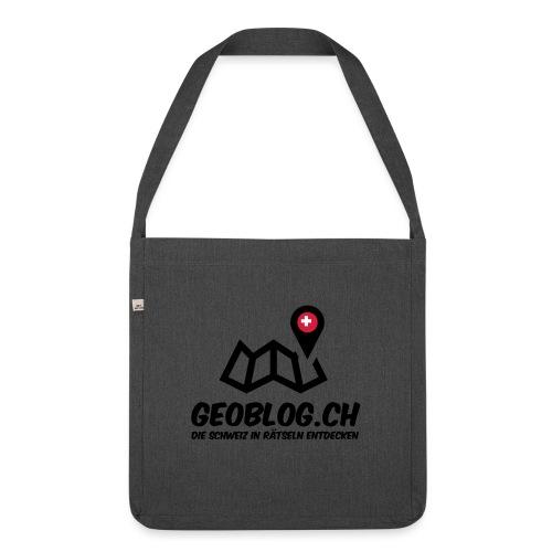 Logo+Schriftzug-hoch - Schultertasche aus Recycling-Material