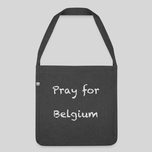 Pray for Belgium - Sac bandoulière 100 % recyclé