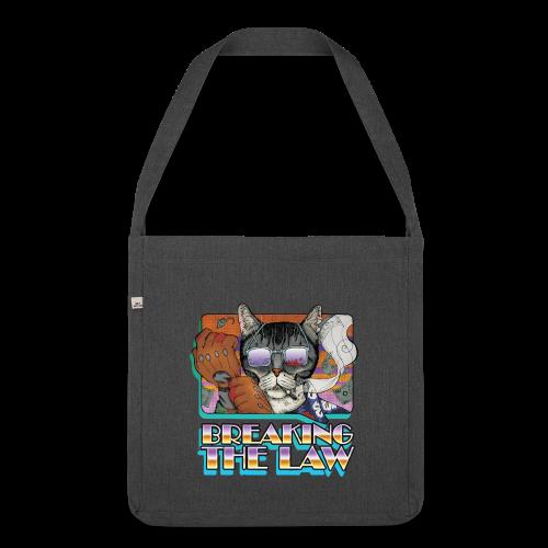 Crime Cat in Shades - Braking the Law - Torba na ramię z materiału recyklingowego