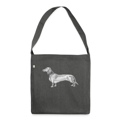 Dachshund smooth haired - Skuldertaske af recycling-material