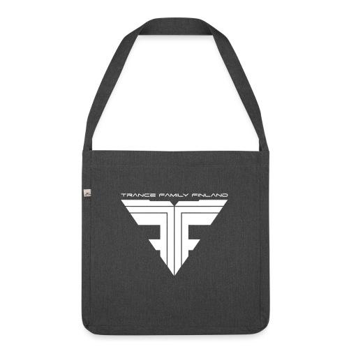 TFF Logo White - Olkalaukku kierrätysmateriaalista
