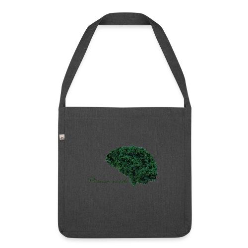 Piensa verde - Bandolera de material reciclado