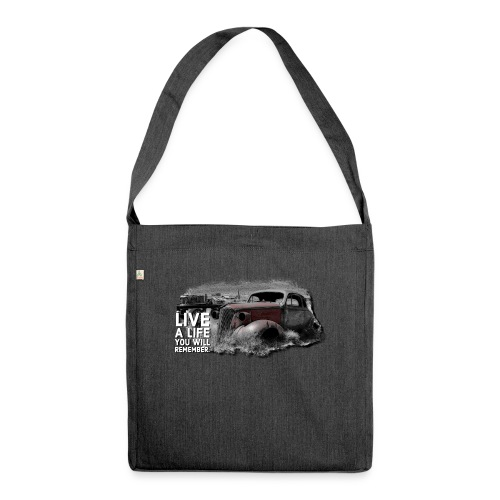 Live a life Oldtimer - Schultertasche aus Recycling-Material