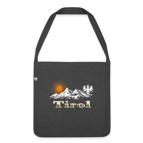 Tiroler Berge - Schultertasche aus Recycling-Material