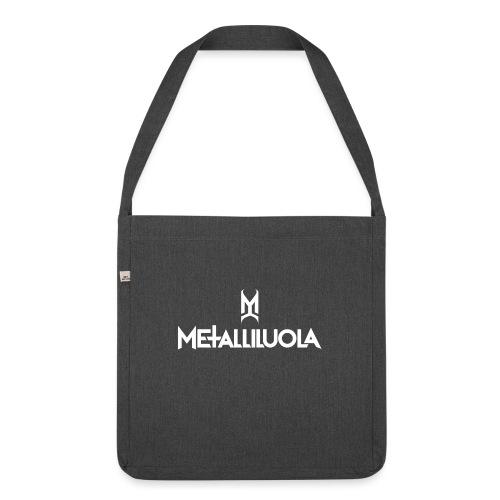 Metalliluola valkoinen logo - Olkalaukku kierrätysmateriaalista