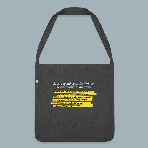 Nederlandse Grondwet T-Shirt - Artikel 94 - Schoudertas van gerecycled materiaal