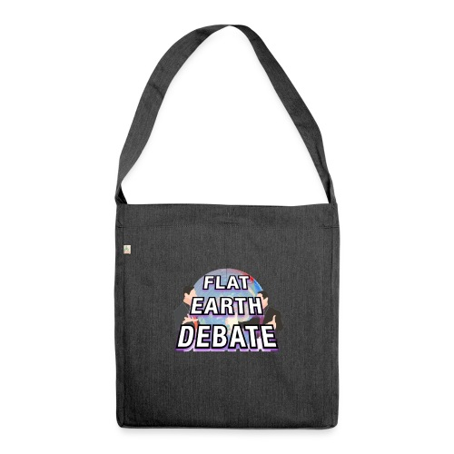 Flat Earth Debate Solid - Shoulder Bag made from recycled material