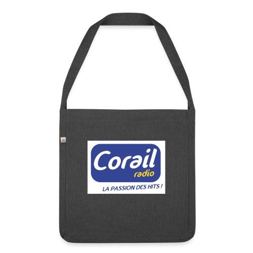 Logo bleu - Sac bandoulière 100 % recyclé