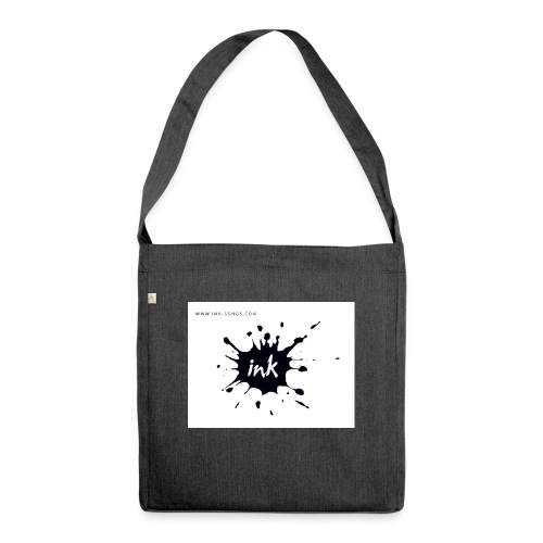 Ink Logo and website - Shoulder Bag made from recycled material