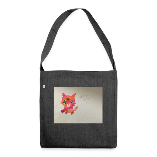 Little pet shop fox cat - Shoulder Bag made from recycled material
