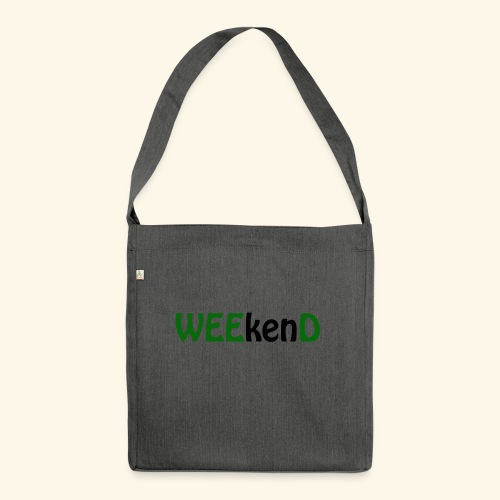 weed - Schultertasche aus Recycling-Material