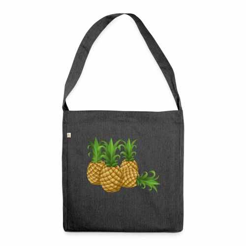 Ananas - Schultertasche aus Recycling-Material
