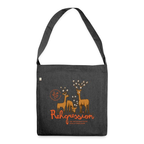 Rehgression - Schultertasche aus Recycling-Material