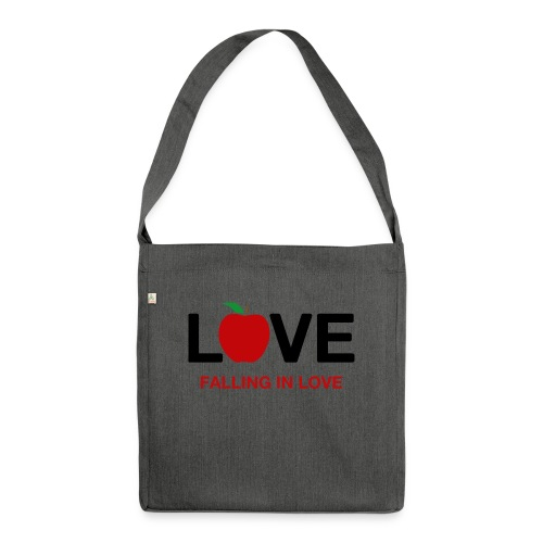 Falling in Love - Black - Shoulder Bag made from recycled material