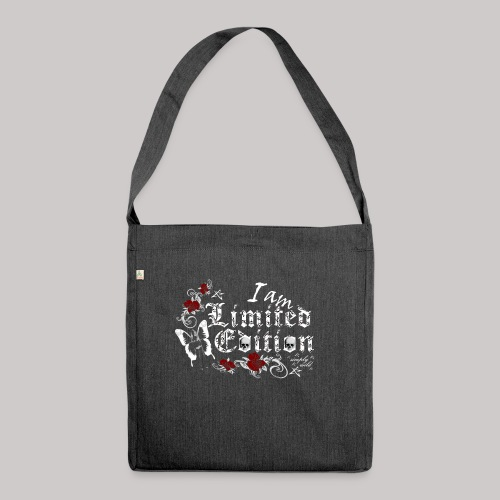 simply wild limited edition on black - Schultertasche aus Recycling-Material
