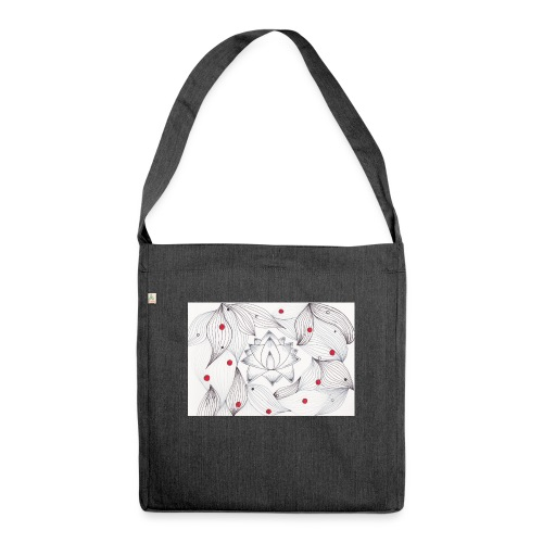 Lotus Dots - Borsa in materiale riciclato