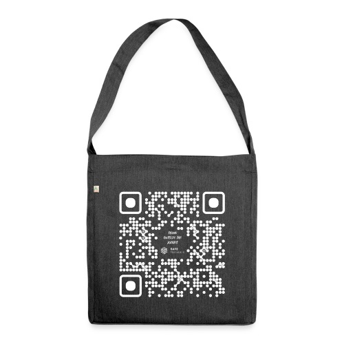 QR The New Internet Should not Be Blockchain Based W - Shoulder Bag made from recycled material