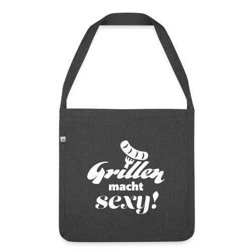Grillen Geschenk für Männer T-Shirt Schürze - Schultertasche aus Recycling-Material