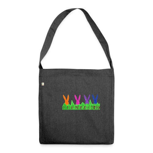 Frohe Ostern 3 19 - Schultertasche aus Recycling-Material