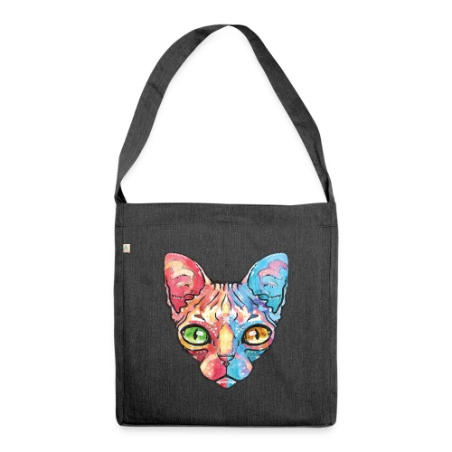 EgyptianCat - Schultertasche aus Recycling-Material