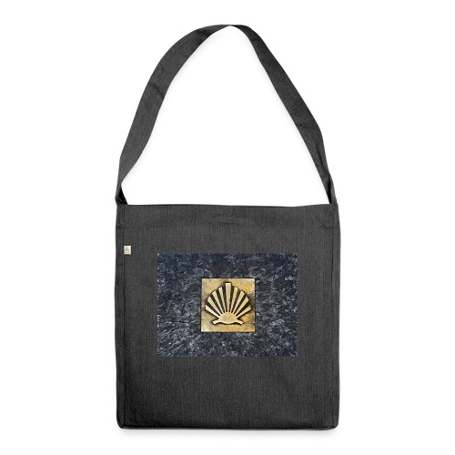 Scallop Shell Camino de Santiago - Shoulder Bag made from recycled material