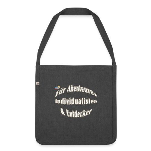 Abenteuerer Individualisten & Entdecker - Schultertasche aus Recycling-Material