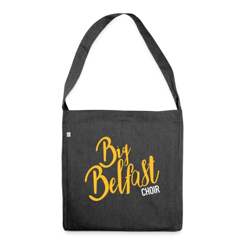 Big Belfast Choir Yellow white - Shoulder Bag made from recycled material