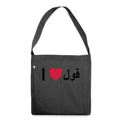 I heart Fool - Shoulder Bag made from recycled material